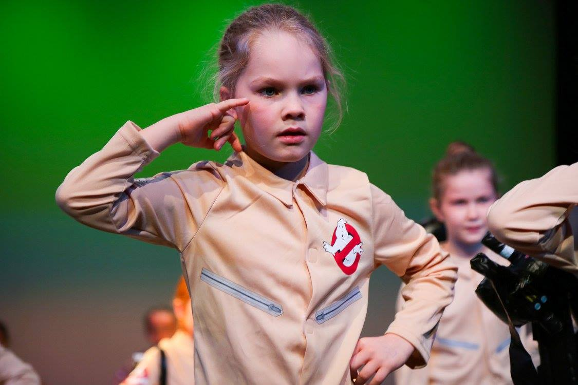 child performer on stage